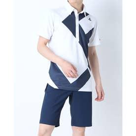 メンズ ゴルフ 半袖シャツ ハンソデシヤツ(ニツト) QGMRJA40AP (ホワイト)