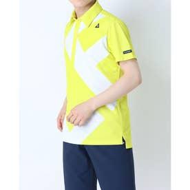 メンズ ゴルフ 半袖シャツ ハンソデシヤツ(ニツト) QGMRJA40AP (イエロー)