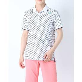 メンズ ゴルフ 半袖シャツ ハンソデシヤツ(ニツト) QGMRJA42AP (ホワイト)