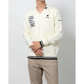 メンズ ゴルフ 長袖セーター セーター/カーデイガン QGMSJK55AP (ホワイト)