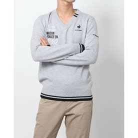 メンズ ゴルフ 長袖セーター セーター/カーデイガン QGMSJK55AP (グレー)