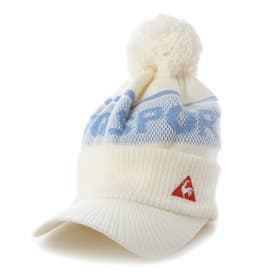 レディース ゴルフ ニット帽子 ボウシ QGCQJC06 (ホワイト)