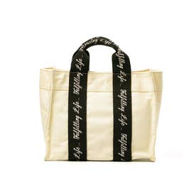 3Pocket bag Lee×SMIR NASLI コラボ トートバッグ ショルダーバッグ ミニバッグ バッグ 011413447 (ホワイト/ブラック)