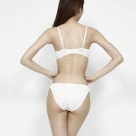 【Pan Cute】フラワー刺繍ブラ&ショーツセット (ホワイト) 【返品不可商品】