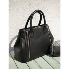 バイカラ-ZIP BAG (ブラック)