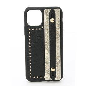 スタッズハンドルiPhoneケース (ブラック)