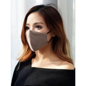バイカラーテレコ冷感マスク(2枚組) (ベージュ)【返品不可商品】