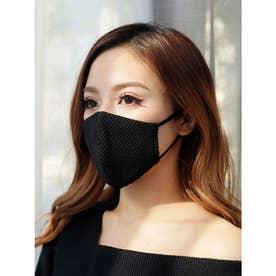 バイカラーテレコ冷感マスク(2枚組) (ブラック)【返品不可商品】