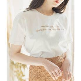 バイカラーメッセージTシャツ (ホワイト)