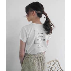 スクエアメッセージTシャツ (ホワイト)
