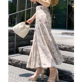 バックスピンドルアシメマーメイドスカート (ミックス1)