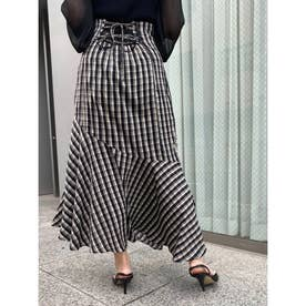 バックスピンドルアシメマーメイドスカート (ミックス3)
