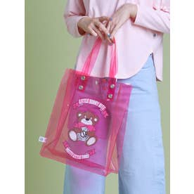 cutie bear LSB logo pvc bag (PINK)