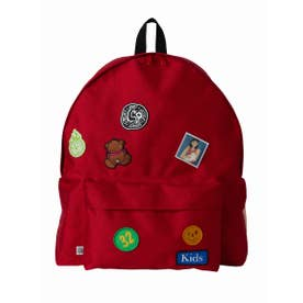 Patches all over back pack (RED)