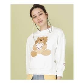 littlesunnybite×ClapClap/bearstichedsweater WHITE