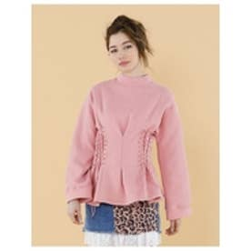 Lacedupsweater/レースアップスウェット PINK