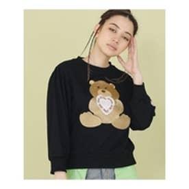 littlesunnybite×ClapClap/bearstichedsweater BLACK