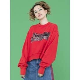 nighborhoodshortsweater/袖ゆるロゴスウェット RED