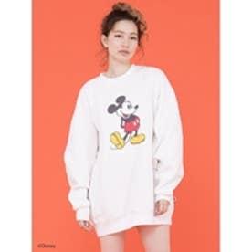 Disney/mickeymousesweater/ミッキースウェット WHITE