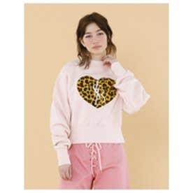 Stichedbigheatsweater/刺繍ビッグスウェット2 PINK