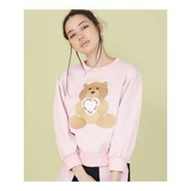 littlesunnybite×ClapClap/bearstichedsweater PINK