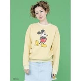 Disney/mickeymousesweater/ミッキースウェット YELLOW