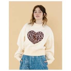 Stichedbigheatsweater/刺繍ビッグスウェット2 WHITE
