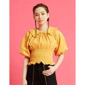 puff sleeve short blouse (YELLOW)