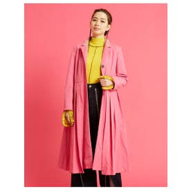 nylon pleat long jacket (PINK)