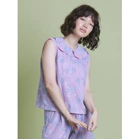 lacy no sleeve top (PINK)