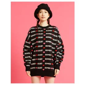 romeo and juliet x big knit top (BLACK)