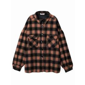 Melton checked jacket (ORANGE)