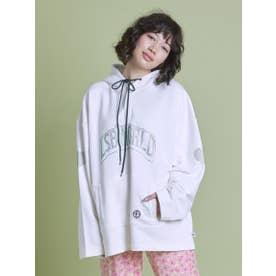 big rhinestone hoodie (WHITE)