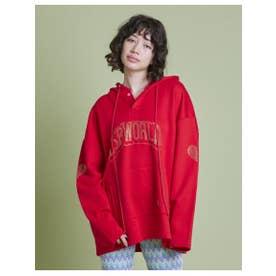 big rhinestone hoodie (RED)