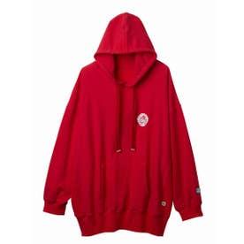 Hibiscus hoodie (RED)