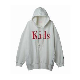 Kids stitched hoodie (WHITE)