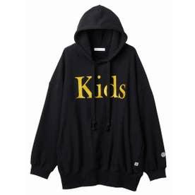 Kids stitched hoodie (BLACK)