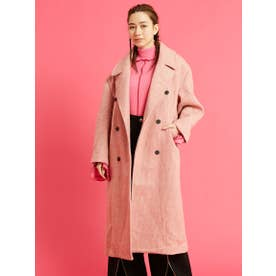 check big coat (PINK)