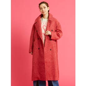 check big coat (RED)