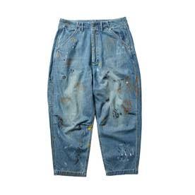 DENIM PAINTER SARROUEL PANTS (BLUE)