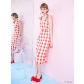 ギンガムチェックドレス (RED)