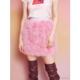 フェザーファースカート (PINK)