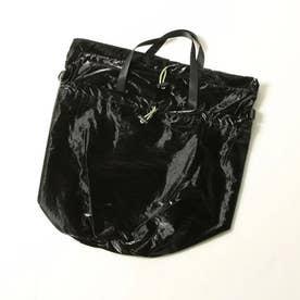 【WEB別注】≪Casselini/キャセリーニ≫3WAYポケッタブルバッグ (ブラック)