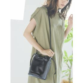 ≪LE VERNIS/ル・ベルニ≫バンブー巾着バッグ (ブラック)