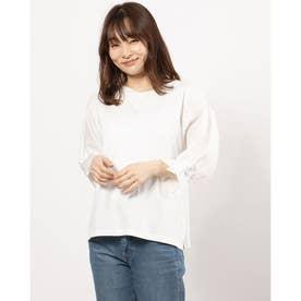 タックギャザー布帛袖PO (オフホワイト)