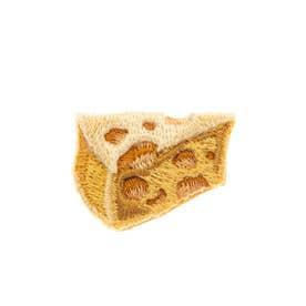 チーズ 刺繍ブローチ (ベージュ)