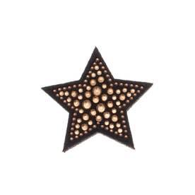 スタースワロ 刺繍ブローチ (ブラウン)