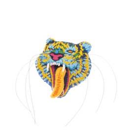 トラ 刺繍ブローチ (ナチュラル)