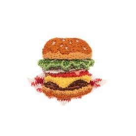 ハンバーガー 刺繍ブローチ (0)