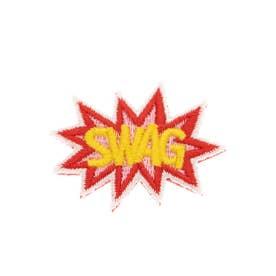 SWAG 刺繍ブローチ (イエロー)